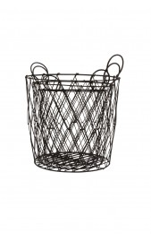 Round Iron Basket, Large