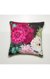 Bella Rosa Cushion - BLACK