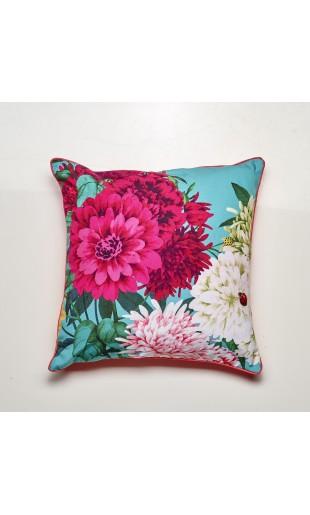Bella Rosa Cushion - TEAL