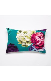Chrysanthemum Feather Filled Cushion - TEAL